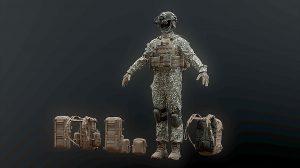 مدل سه بعدی سرباز جنگی Soldier Complete Pack