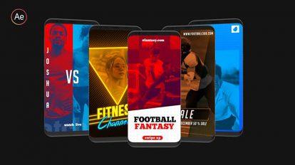 پروژه افترافکت مجموعه استوری اینستاگرام ورزشی Sports Instagram Stories