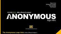 پروژه افترافکت نمایش لوگو با شخص ناشناس The Anonymous Logo