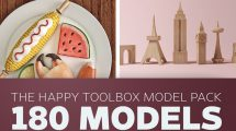 مجموعه مدل سه بعدی خیالی The Happy Toolbox Model Pack