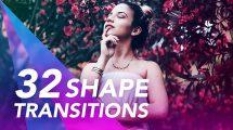 پروژه پریمیر مجموعه ترانزیشن با اشکال Transitions
