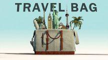 پروژه افترافکت نمایش لوگو گردشگری Travel Bag