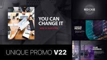 پروژه افترافکت تیزر تبلیغاتی شرکت Unique Promo