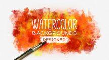 پروژه افترافکت مجموعه زمینه متحرک آبرنگ Watercolor Background
