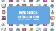 پروژه افترافکت مجموعه انیمیشن آیکون فلت طراحی وب