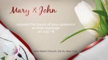 پروژه افترافکت دعوت عروسی Wedding Invitation E-Card