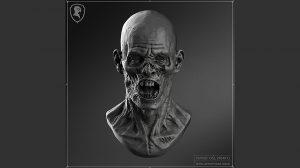 مدل سه بعدی کله زامبی Zombie Head Version 01