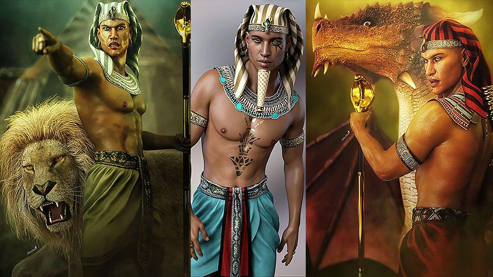 مدل سه بعدی لباس با استایل مصر باستان Ancient Egypt Bundle