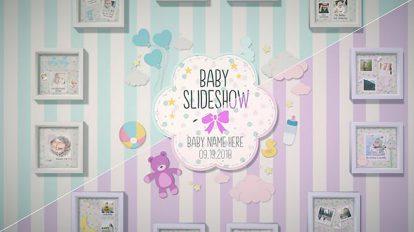 پروژه افترافکت اسلایدشو کودک Baby Slideshow