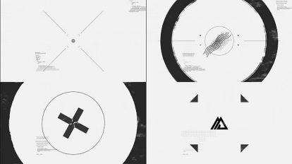 پروژه افترافکت نمایش لوگو سیاه سفید Black White Glitch Logo