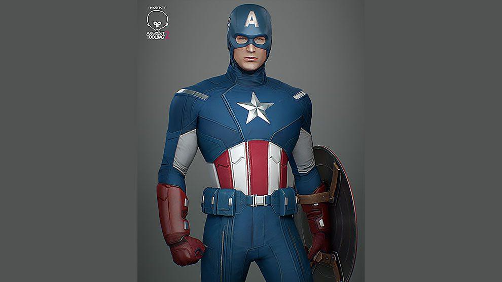 مدل سه بعدی کاپیتان آمریکا Capitan America Avengers