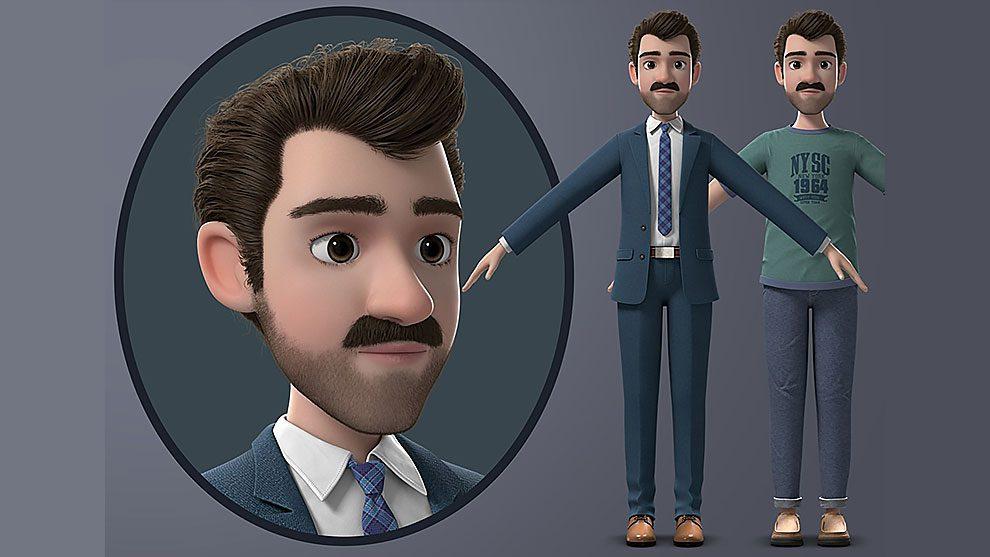 مدل سه بعدی کارتونی مرد Cartoon Man