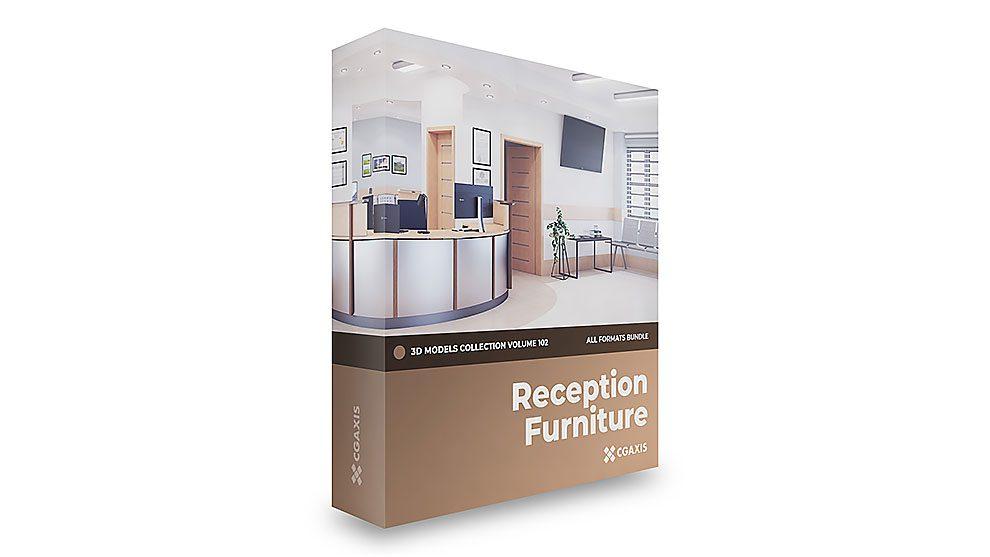 مجموعه مدل سه بعدی مبلمان پذیرش CGAxis Models Volume 102 Reception