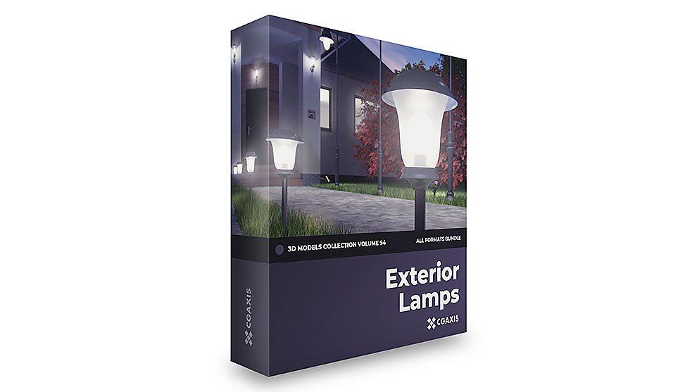 مجموعه مدل سه بعدی چراغ های خارجی CGAxis Models Volume 94 Exterior