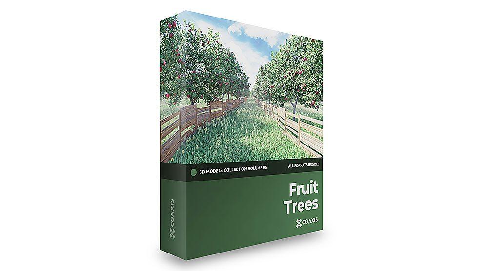 مجموعه مدل سه بعدی درختان میوه CGAxis Models Volume 95 Fruit Trees