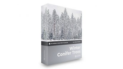 مجموعه مدل سه بعدی درختان زمستانی CGAxis Models Volume 98 Winter