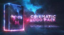 پروژه افترافکت نمایش لوگو سینمایی Cinematic Saber Logo Pack