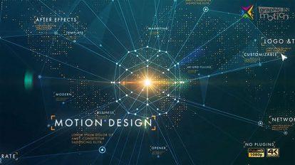 پروژه افترافکت افتتاحیه شرکتی Corporate Business Network
