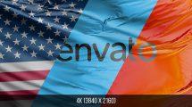 پروژه افترافکت انیمیشن حرکت پرچم Custom Flags