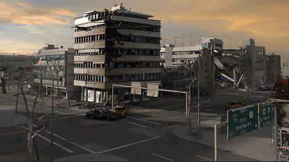 مجموعه مدل سه بعدی بلوک های تخریب شده شهری Destroyed City Blocks