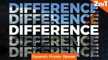 پروژه افترافکت افتتاحیه تبلیغاتی Dynamic Promo Opener 2 in 1