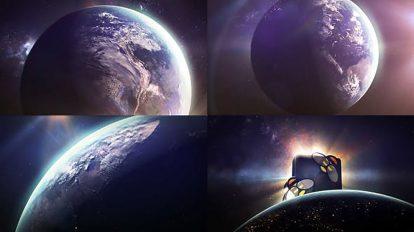 پروژه افترافکت نمایش لوگو کره زمین Earth Sun Logo