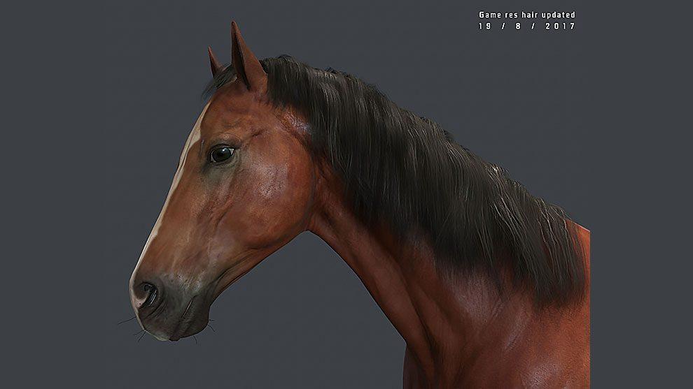 مدل سه بعدی اسب Hame Horse Low Poly