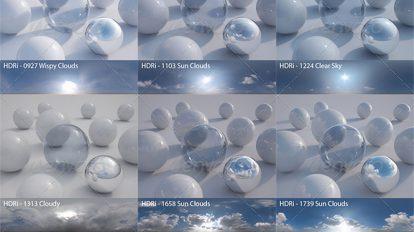 مجموعه تصاویر محیط آسمان HDRI Pack 3