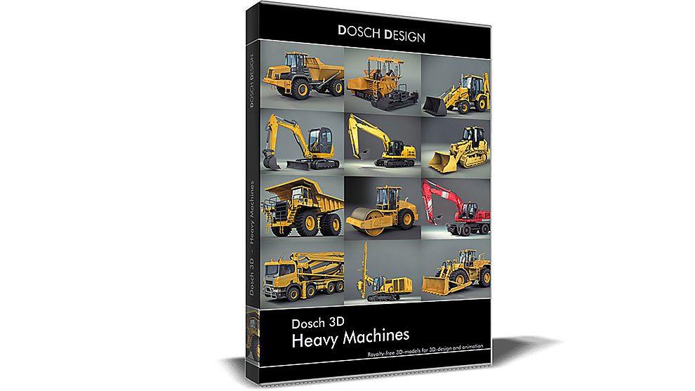 مجموعه مدل سه بعدی ماشین سنگین Heavy Machines