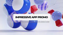 پروژه افترافکت تیزر تبلیغاتی اپلیکیشن Impressive App Promo
