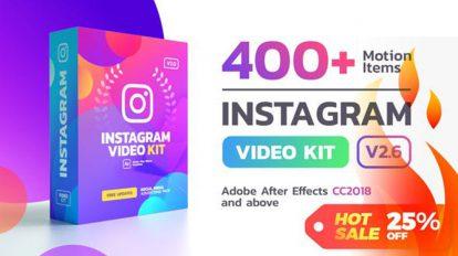 پروژه افترافکت مجموعه استوری اینستاگرام Instagram Video Kit