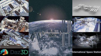 مدل سه بعدی ایستگاه فضایی بین المللی International Space Station