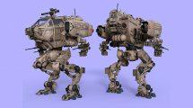 مدل سه بعدی ربات جنگنده LG07 Combat Mech