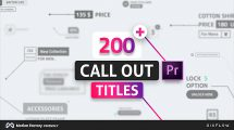 پروژه پریمیر عناوین فراخوانی Line Callout Titles for Premiere Pro