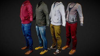 مجموعه مدل سه بعدی لباس مرد Male Clothing Collection 1