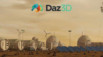 مجموعه مدل سه بعدی اجزای سکونت مریخ Mars Colony