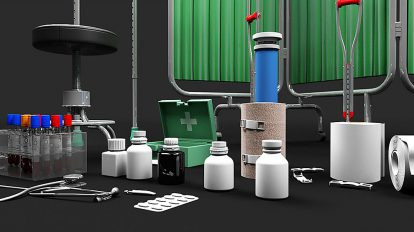 مجموعه مدل سه بعدی لوازم پزشکی 3D Medical Collection