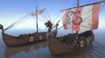 مجموعه مدل سه بعدی کشتی وایکینگ Medieval Viking Ship Pack