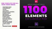 پروژه افترافکت مجموعه اجزای گرافیکی ویدیو Mega Graphics Pack