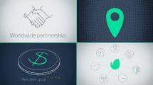 پروژه افترافکت مجموعه تیزر تبلیغاتی مینیمال Minimal Promo Kit