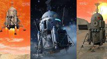 مدل سه بعدی فضاپیمای ماه Moon Lander
