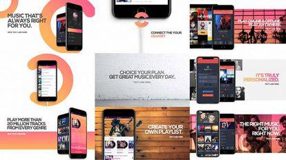 پروژه افترافکت تیزر تبلیغاتی اپلیکیشن موزیک Music App Promo