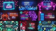 پروژه افترافکت اسلایدهای نئونی Neon Lyrics