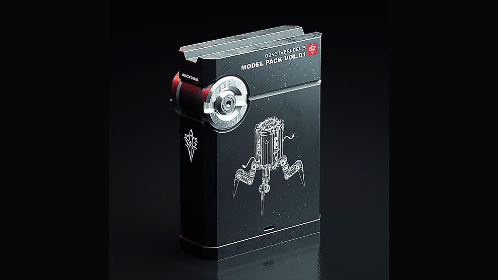 مجموعه مدل سه بعدی ابزار پیشرفته ObserverDoel Model Pack 01