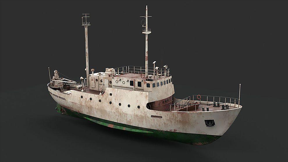 مدل سه بعدی کشتی قدیمی Old Vessel
