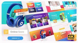 پروژه افترافکت تیزر تبلیغاتی فروشگاه آنلاین Online Market Universal