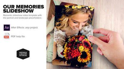 پروژه افترافکت اسلایدشو خاطرات Our Memories Slideshow