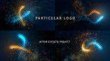 پروژه افترافکت نمایش لوگو با ذرات پارتیکلی