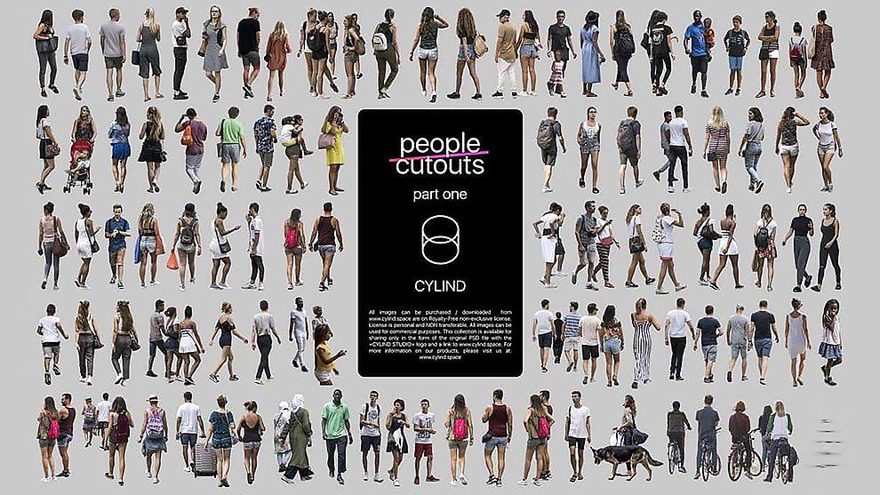 مجموعه مدل سه بعدی بریده شده مردم People Cutouts