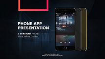 پروژه افترافکت پرزنتیشن اپلیکیشن موبایل Phone App Presentation